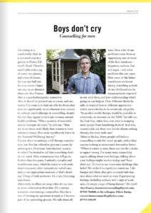Copy of article on counselling men in Viva Lewes magazine